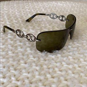 GUCCI black shield sunglasses